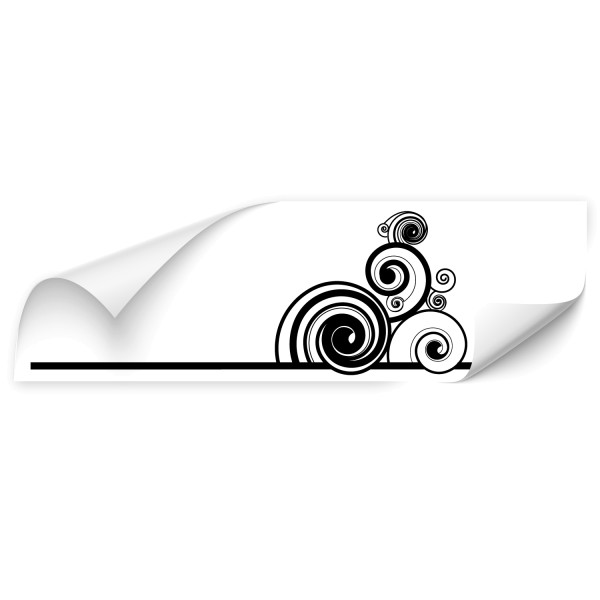 Retro Spiralen Fahrzeug Türaufkleber - Kategorie Shop