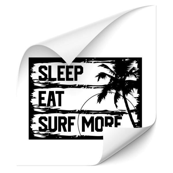 Sleep Eat Surf - wandtattoo