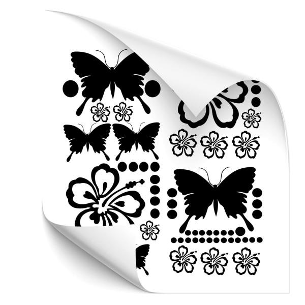 Hibiskus-Schmetterling-Set Fahrzeug Style Sticker - Kategorie Shop