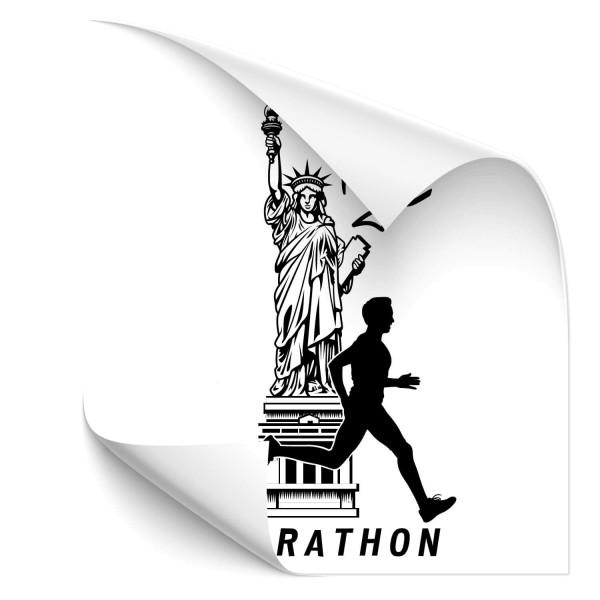 NYC Marathon - wandtattoo