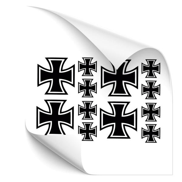 Eisernes Kreuz - Set Heck Aufkleber - heckscheibe