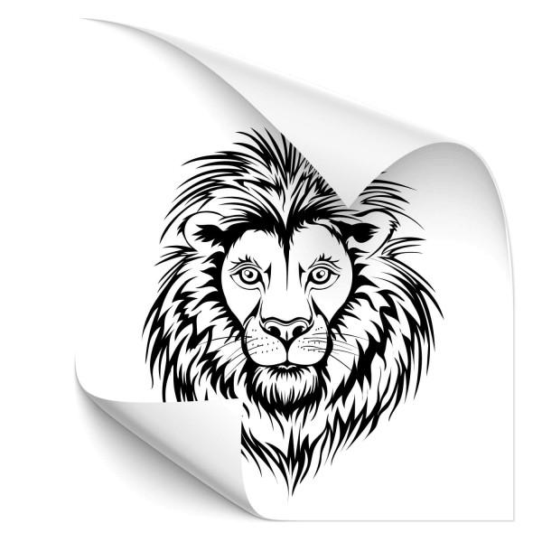 Löwen Kopf Car Art Tattoo - katzen & Co