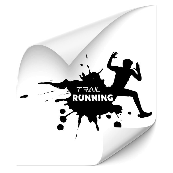 Trail Running - wandtattoo