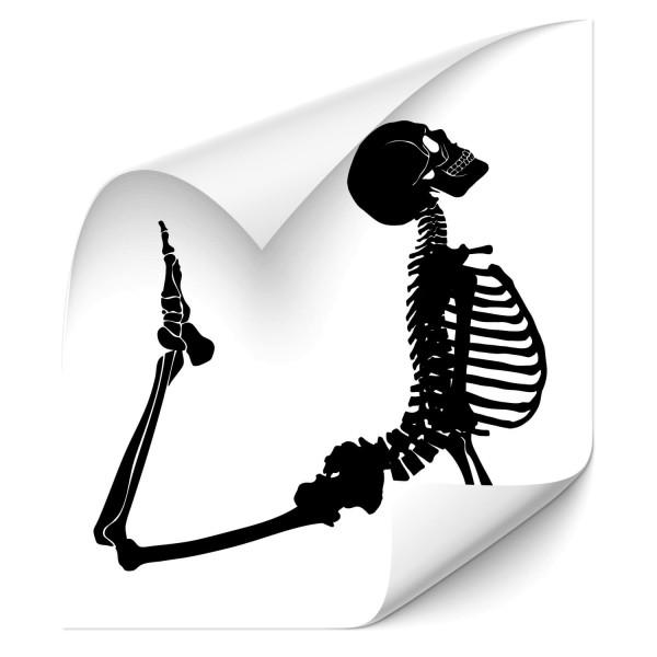 Skelett Fahrzeug Sticker - Totenkopf