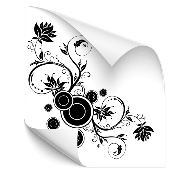 Blüten Ranken Auto Sticker - Kategorie Shop