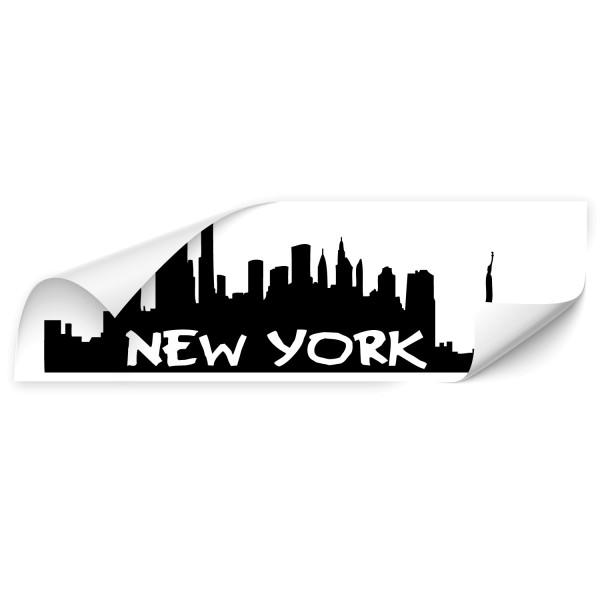 New York Silhouetten Skyline Autoaufkleber - Kategorie Shop