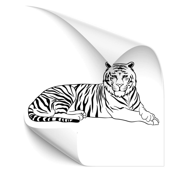 liegende Tiger Fahrzeug Sticker - katzen & Co