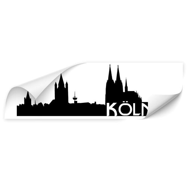Köln Skyline Fahrzeug Aufkleber - Skyline
