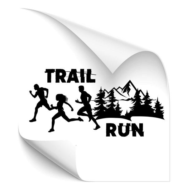 Trail Run - wandtattoo