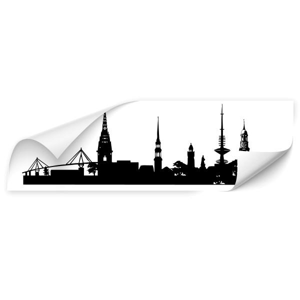 Hamburg Weltstadt Auto Tattoo - Skyline