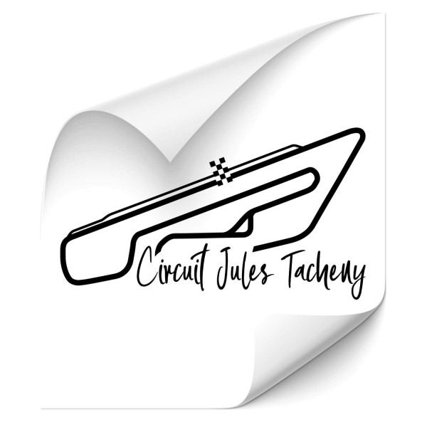 Rennstrecke - Jules Tacheny Autoaufkleber - sport