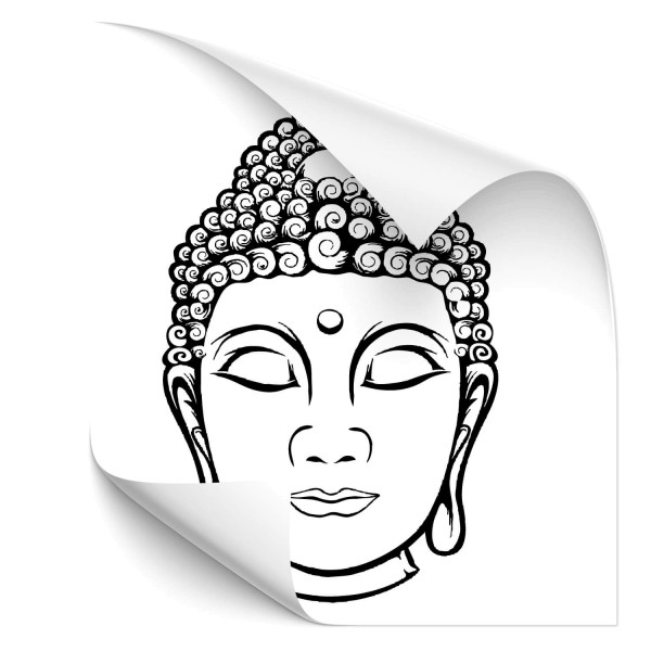 Buddha Kopfstatue Auto Folienaufkleber - people