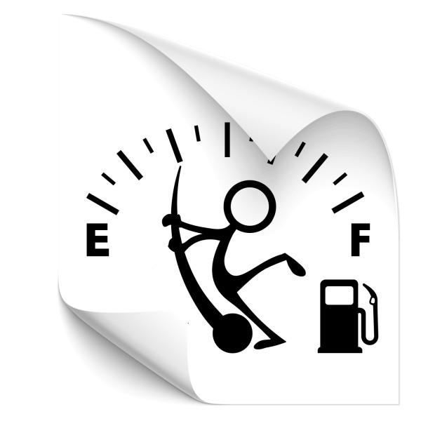 Tankanzeige Fahrzeugheckaufkleber - heckscheibe