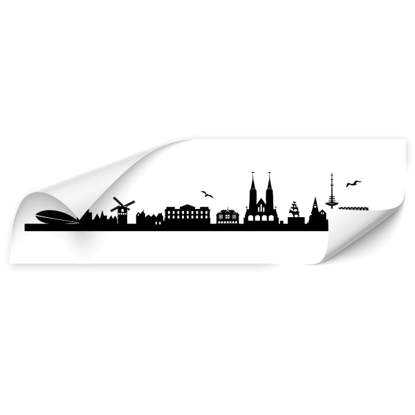 Bremen Großstadt Fahrzeug Aufkleber - Skyline