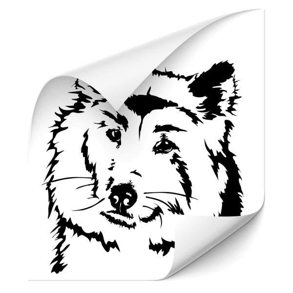 Akita Inu Auto Heckscheibenaufkleber - Hunde