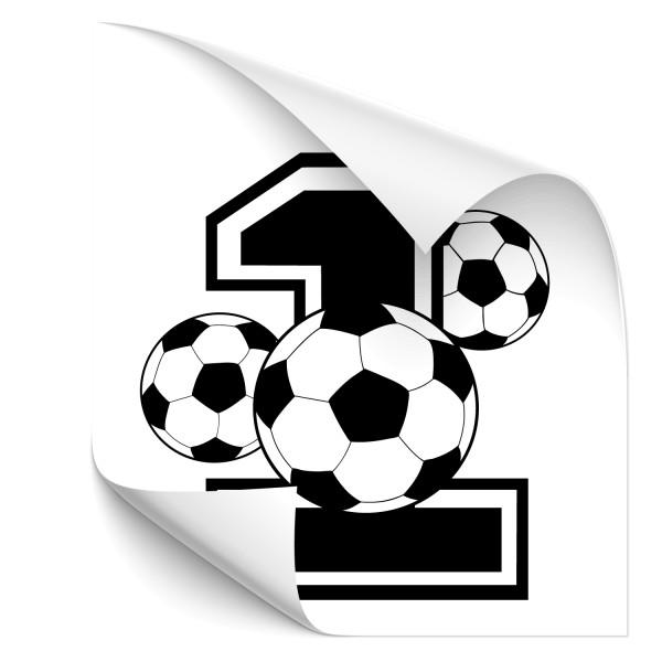 Fußball - Nummer 1 Car Tattoo - wandtattoo