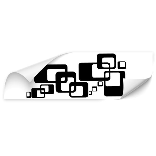 Retro Cubes Car Art Sticker - Kategorie Shop