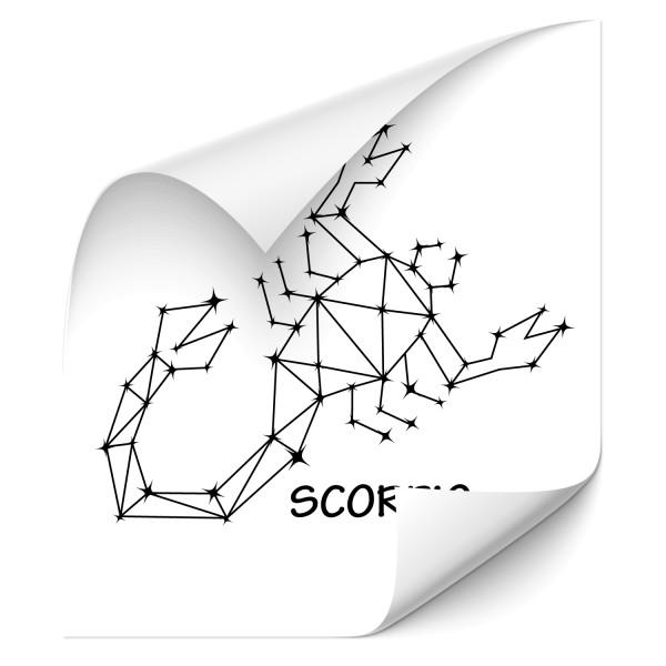 Scorpio - Sternbild Fahrzeug Sticker - Sternzeichen