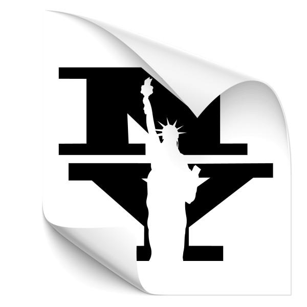 New York - Freiheitsstatue Kfz Tuning Sticker - wahrzeichen