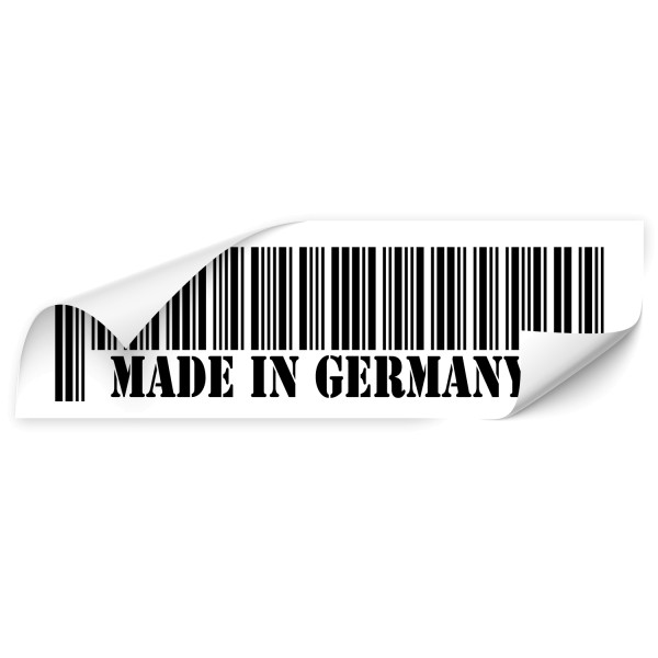 Made in Germany Barcode Tuning Car Sticker - Kategorie Shop