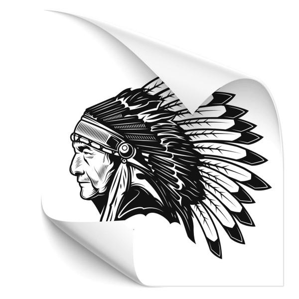 Indianer Häuptling Fahrzeug Sticker - people