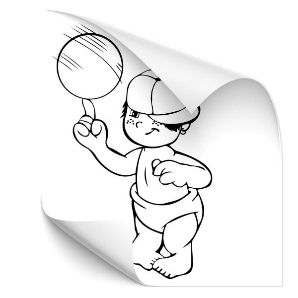 Junge mit Ball Fahrzeug Sticker - Kategorie Shop