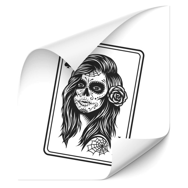 Gothic Woman Car Tattoo - wandtattoo