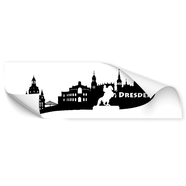 Dresden Goldener Reiter Car Art Sticker - Skyline