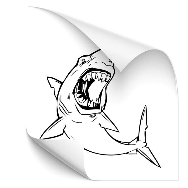 Weiße Hai Kfz Autotattoo - unterwasserwelten