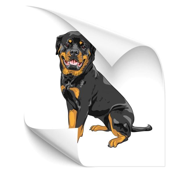 Rottweiler Auto Hundeaufkleber - Kategorie Shop