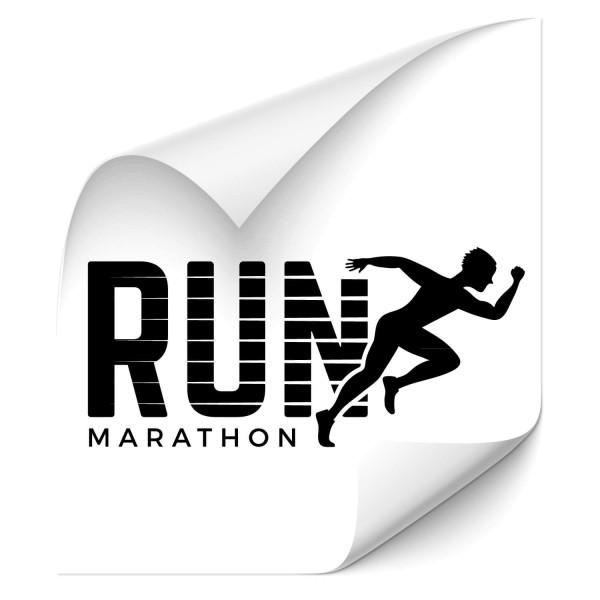 Run Marathon - wandtattoo