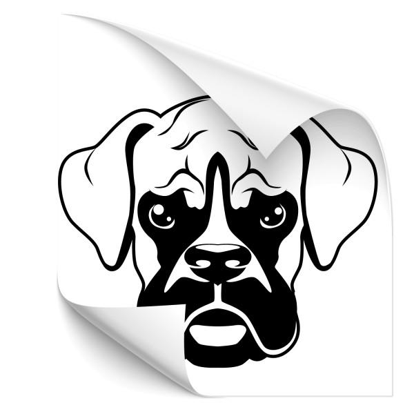 Boxer Hunde Autosticker - Rassehunde