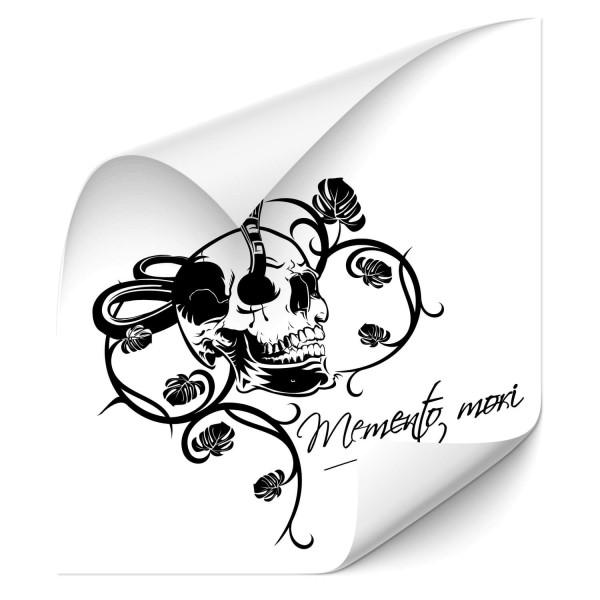 Memento Mori Totenkopf mit Schlange Car Art Aufkleber - Kategorie Shop