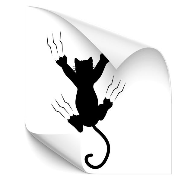Katze mit Kratzspuren Car Foliensticker - katzen & Co