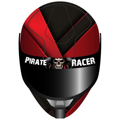 Visier Sticker Pirate Racer Helmvisier Sticker - Kategorie Shop