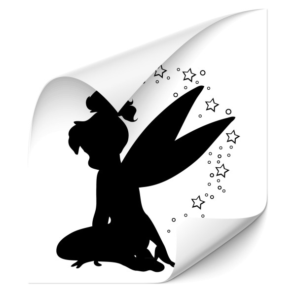 Elfe mit Sternen Kfz Foliensticker - wandtattoo