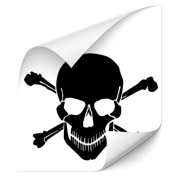 Totenkopf Pirat Auto Tattoo - Kategorie Shop